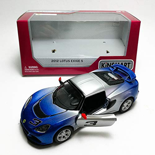 KiNSMART 1:32 Die-Cast 2012 Lotus Exige S Color Gradient Car Blue Model with Box Collection Christmas New Gift