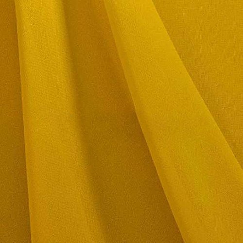 Hi Multi Chiffon Fabric by the yard (Mustard (Mustard Chiffon)