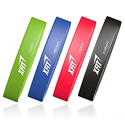 XFIT Premium Resistance Loop Bands - Exercise Bands Improves Body Posture, Muscle Tone, Flexibility, Strength and Fitness Results