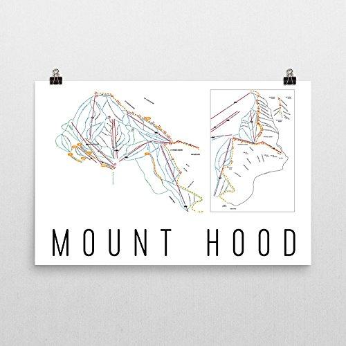 Mount Hood Poster, Mount Hood Ski Resort Poster, Mount Hood Art Print, Mount Hood