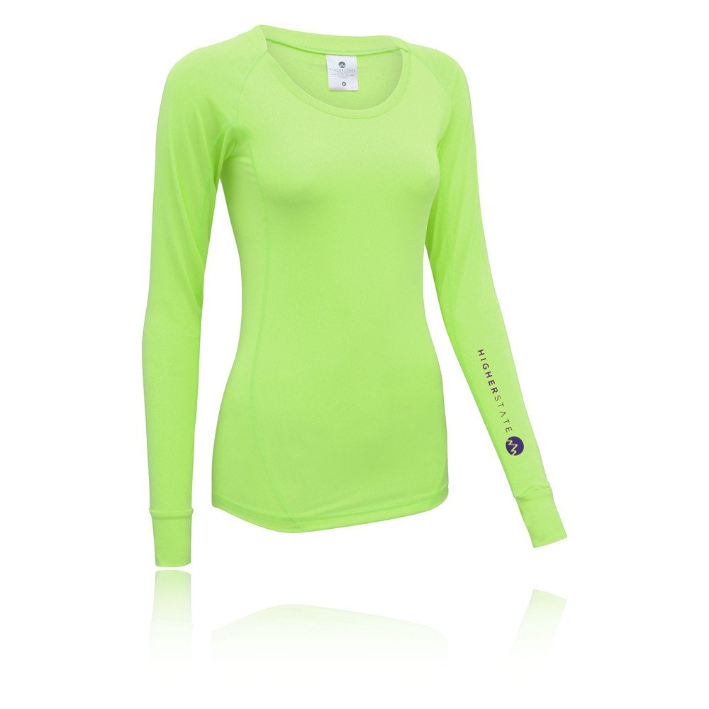 Higher State Mens Yellow Half Zip Long Sleeve Lightweight Running Sports Top
