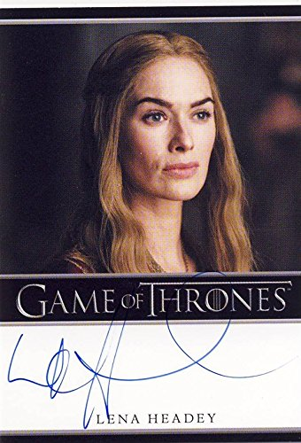 2014 Game of Thrones Season 3 Autograph Card Lena Headey as Cersei Lannister
