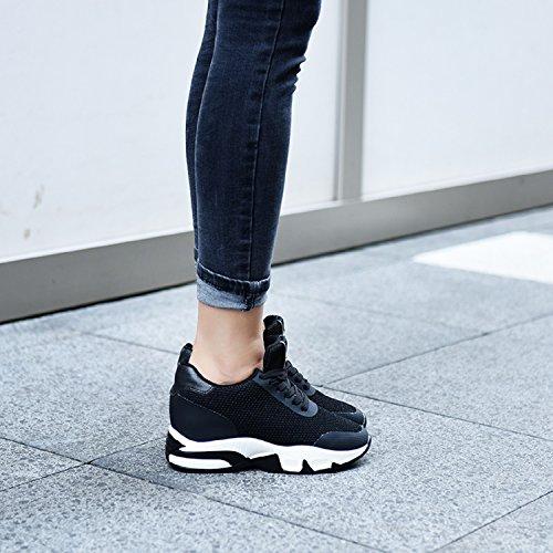 Mastery Baskets Chaussure de Fitness Mode Basses Sneakers Femme Compensées Wedge 8cm Sport legeres H Talon 5dv0wqx58