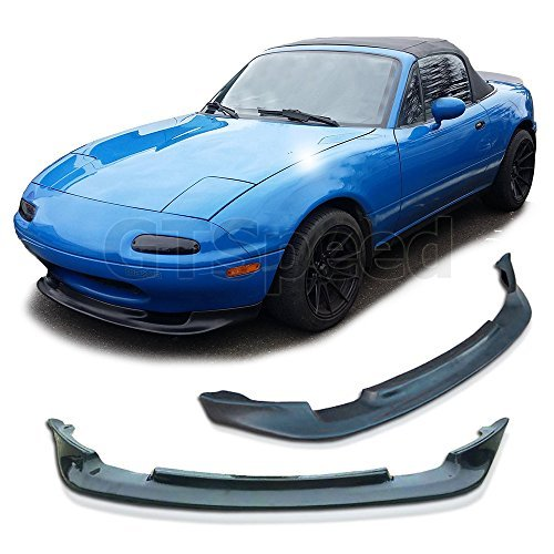 GT-Speed Made for 90-97 Mazda Miata MX5 GV Style Front PU Bumper Add on Lip ()