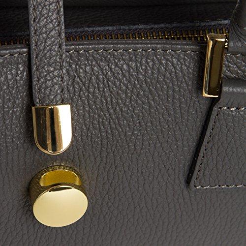 ITALIE classique à en très TL667 cuir main coloris CASPAR pour Sac EN gris femme business sac plusieurs élégant FABRIQUÉ YpnqWAZ