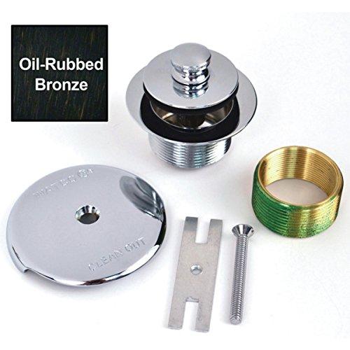 Watco? 1-Hole Overflow Plate Push-Pull Trim Fine Thread Oil Rubbed Bronze