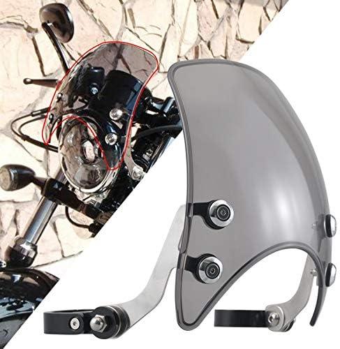 Parabrisas de motocicleta Deflector De Viento En Forma Fit For Harley Davidson Sportster XL 883 Custom 1200 Hierro 883 XL883N Motocicleta Parabrisas Del Humo Del Parabrisas De La Motocicleta Deflector
