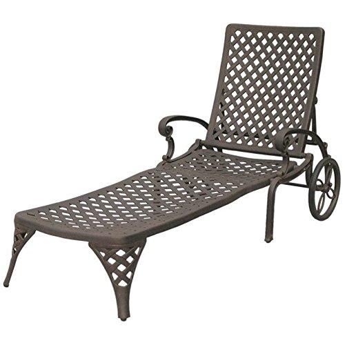 Darlee Nassau Patio Chaise Lounge in Antique Bronze