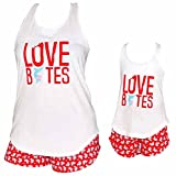 "valentines day shark - UB Womens ""Love Bites"" Mommy and Me Valentine's Day Outfit (XXL)"