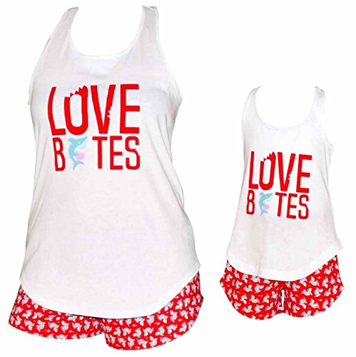 UB Girls Love Bites Mommy and Me Valentine's Day Outfit (4t) Red