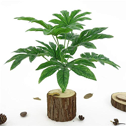 Artificial Plants - 9 Leaves 1pc Artificial Green Plant Fatsia Leaf Simulation Bonsai Home Decor - Metal Crafting Rose Round Long Gray Herbs Blue Centerpieces Yellow Basket Topiary Minimalist ()
