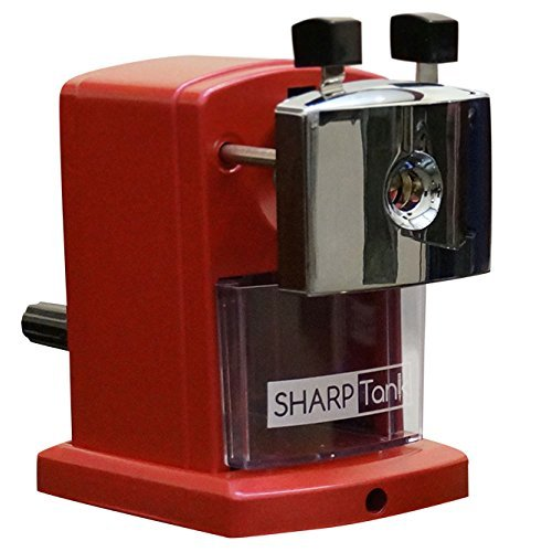 SharpTank - Portable Pencil Sharpener (Metallic Rose) - Compact & Quiet Classroom Sharpener That Gets Straight to the Point!