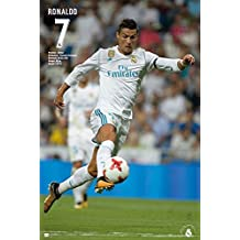 "Real Madrid - Soccer / Sport Poster (Cristiano Ronaldo - In Action 1 - Season 2017 / 2018) (Size: 24"" x 36"") (By POSTER STOP ONLINE)"