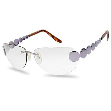 SunglassUP Gafas de Sol Retro sin Montura con Tinte de Color ...