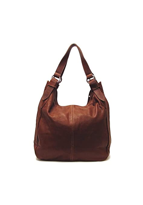Amazon.com  Siena Leather Hobo Shoulder Bag in Brown  Shoes a217b814318dc