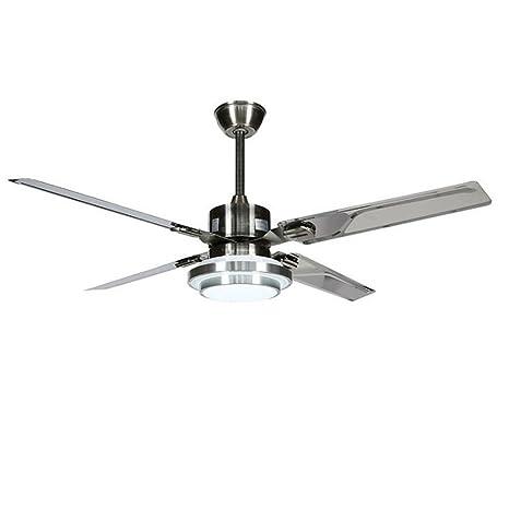 Lámpara de techo de 52 pulgadas lámpara de la sala de estar dormitorio ventilador de techo luz de la casa lámpara de ventilador proyecto de oficina ...