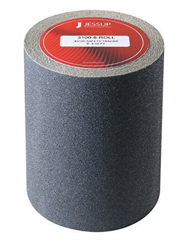 (Manufacturer Direct, Non slip, adhesive backed grit tape for slips, trips and fall prevention on stairs, floors, pedals, and much more (8 inches x 60 feet))