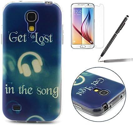 Samsung Galaxy S4 Mini Funda, Samsung Galaxy S4 Mini Carcasa, Felfy Ultrafina Transparente Suave Crystal TPU Silicona Gel Patrón Músico Diseño ...