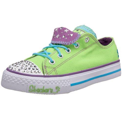 Skechers Shuffles Tuff N Tiny 83558L, Kinder Sneaker Grün (Lmpr)