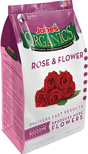 Jobe's 09426 Organic Rose & Flower Granular Fertilizer 4-Pound Bag
