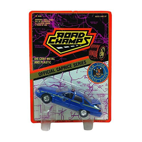 Road Champs Diecast Official Caprice Series 1:43 Scale New York State Police Blue Car (Caprice Police Car)