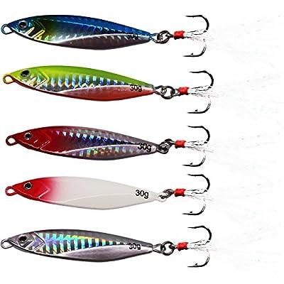 SUPERTHEO Fishing Spoons Metal Hard Jigging Saltwater Freshwater Fishing Baits