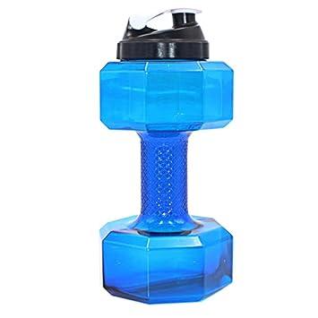 Botella de agua, forma de pesas Power petg 2.2L Water Jug ecológico Sport Jarra