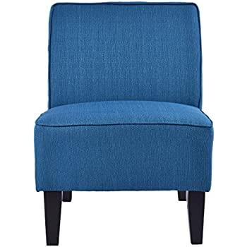Perfect Giantex Deco Solids Accent Chair Armless Living Room Bedroom Office  Contemporary (Blue)