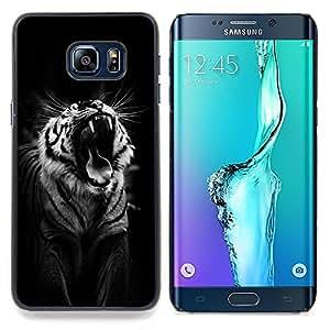 - tiger black roar yawn sleepy big cat - - Modelo de la piel protectora de la cubierta del caso FOR Samsung Galaxy S6 Edge Plus RetroCandy