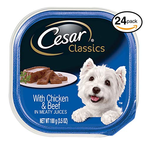 CESAR CANINE CUISINE Wet Dog Food with Chicken and Beef, (Pack of 24) 3.5-oz Trays For Sale
