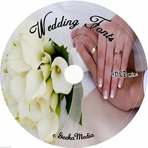 604 Wedding Fonts on cd Fonts Cd