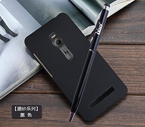 ASUS ZenFone 2 ZE500CL case, KuGi ® High quality ultra-thin PC Case Cover with screen protector & STYLUS PEN For ASUS ZenFone 2 ZE500CL 5 inch (Black)