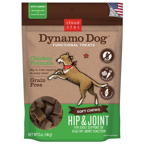 Cloud Star Dynamo Dog Hip And Joint Functional Treat Pouches, Chicken, 5-Ounce Review