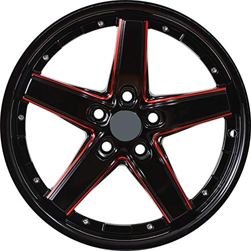 - DRIFT - 18 inch Gloss Black Red Mill Rims fits BMW 228i XDrive Coupe AWD 18x8 5x120 ET40 CB74.1