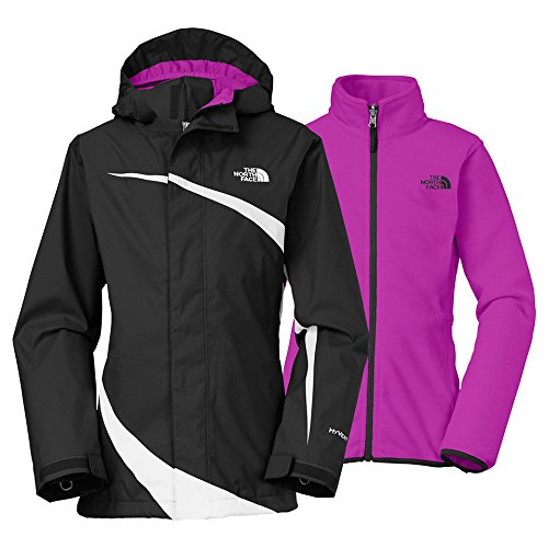 The North Face Girls' Mountain View Tricilmate Jacket TNF Black/TNF White Small by The North Face