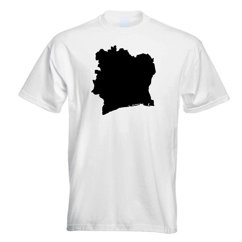 Ivory Coast Outline Contour T Shirt Printed Design Print Gift Idea 4997