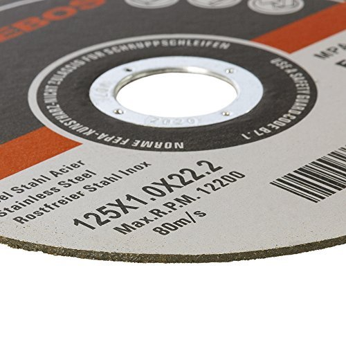 400 x Cutting Discs for Metal Stainless Steel Cutting Slitting Discs 125mm for Angle Grinder