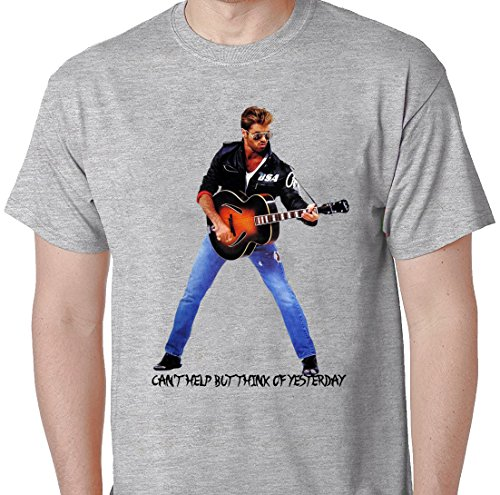 George Michael Tribute Tees Choose Life George Michaels Careless Whisper Tshirt X-Large Grey (What To Wear To 80s Party)