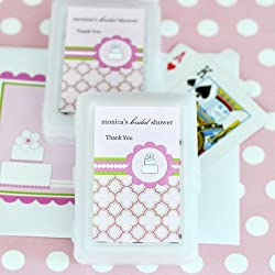 Personalized Playing Cards - Pink Cake - Total 100 items