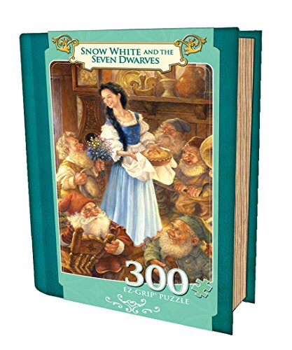 MasterPieces Snow White and the Seven Dwarves Book Box EZ Grip Jigsaw Puzzle, Art by Aimee Stewart, 300-Piece