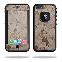 Mightyskins Protective Vinyl Skin Decal Cover for Lifeproof iPhone 6/6S Case fre Cover wrap sticker skins Desert Camo