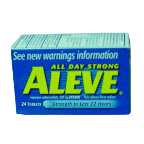 Aleve Pain Reliever Tablets-24 ct, 6 pack (Aleve Cold Medicine)