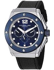 Stuhrling Original Men's 469.33156 Special Reserve Apocalypse Midnight Quartz Multi-Function Black Leather Strap Watch