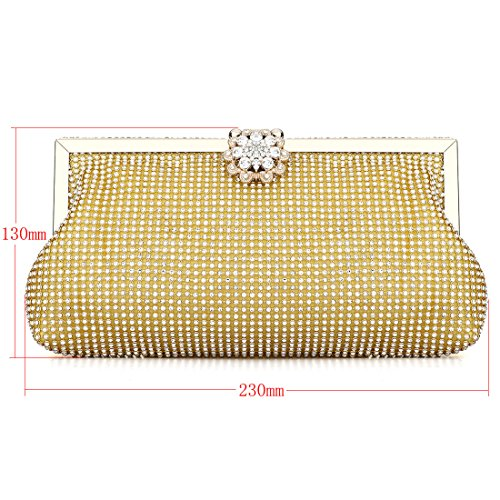 HT ladies evening handbags - Cartera de mano para mujer dorado