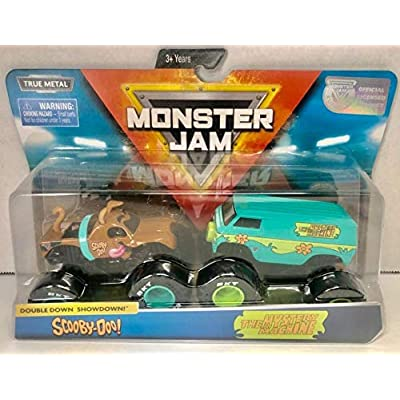 MJ Monster Jam Scooby Doo and The Mystery Machine Doubledown 1:64 Scale: Toys & Games