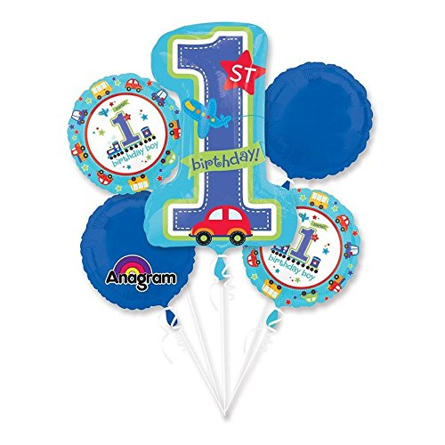 All Aboard 1st Birthday Balloon Bouquet (Each) - Party Supplies