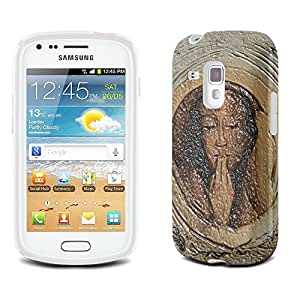 Fernand Khnopff - The Silver Crown Tondo, Claro Gel Funda Carcasa Case Suave de Silicona con Diseño Texturado para Samsung Galaxy S3 Mini