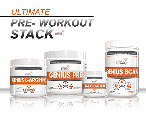 Genius-Pre-Workout--All-Natural-Nootropic-Preworkout-Powder-Caffeine-Free-Nitric-Oxide-Booster-with-Beta-Alanine-and-Alpha-GPC-Focus-Energy-and-Muscle-Building-Supplement-Grape-Limeade-338G