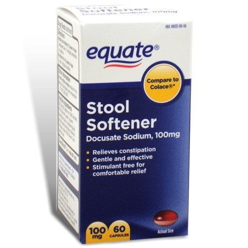Stool Softener 100 mg 120ct (Two 60ct bottles) by Equate ...