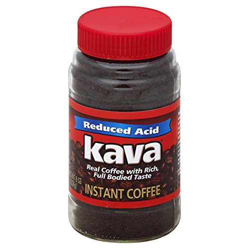 Kava Reduced Acid Instant Coffee, 8 Ounce Jars (Pack of - Coffee Kava Instant